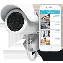 Övervakningskamera med WiFi och lagring i molnet